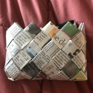 Handbags - Newspaper small make up pouch/card case